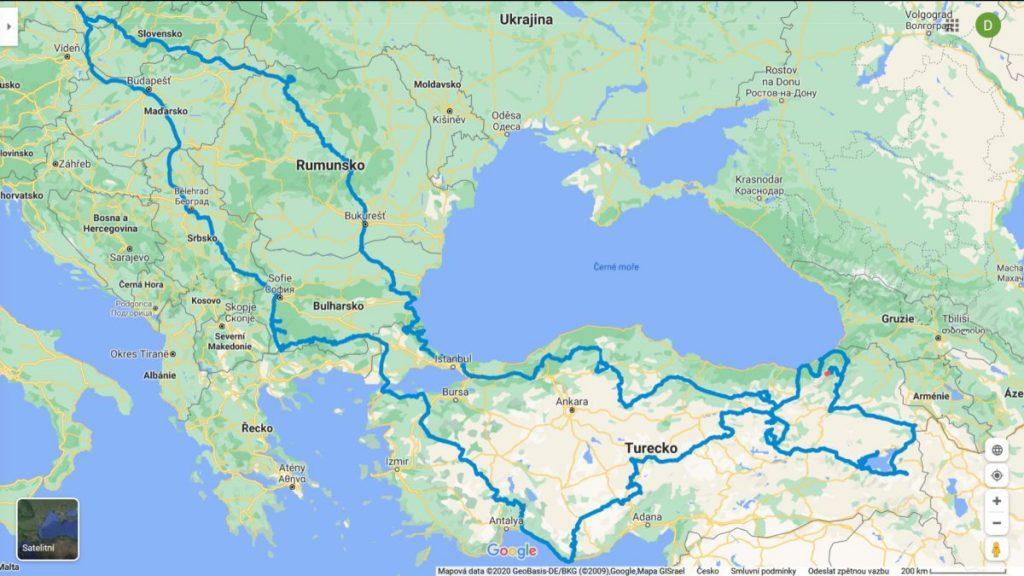 000 Cela cesta Turecko