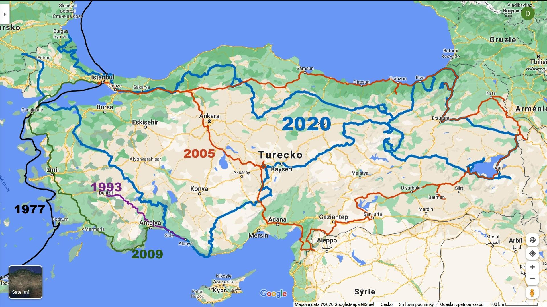 wwwVsechny trasy Turecko s Pavlem